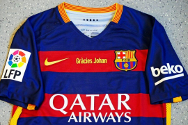 El Barcelona lucirá un 'Gràcies Johan' frente al Real Madrid