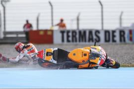 Márquez, pese a una caída, se impone a Rossi y Lorenzo en la clasificación del Gran Premio de Argentina