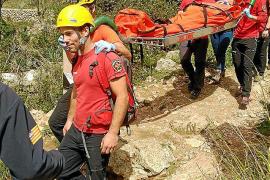 Rescatado un excursionista que sufrió una caída en Valldemossa