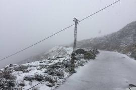 Nieve en plena primavera en el Puig Major