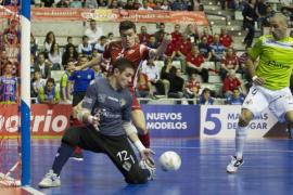 El palo evita la victoria del Palma Futsal en Murcia
