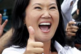 Fujimori gana la primera vuelta electoral en Perú