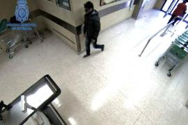 Fotograma en el que se ve al atracador detenido