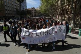 Los alumnos de Balears salen a la calle para pedir la derogación de la LOMCE y el 3+2