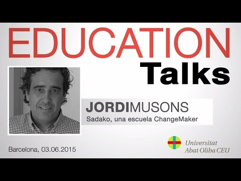 Education Talks con Jordi Musons, director de la Escuela Sadako