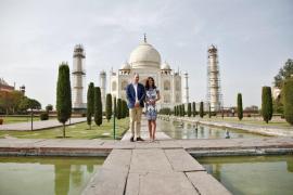 Los duques de Cambridge visitan el Taj Mahal 24 años después de que lo hiciera Lady Di