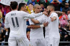 El Real Madrid acecha al Barça tras golear al Getafe
