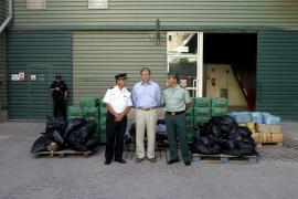 Destruyen casi 2,5 toneladas de hachís y marihuana en Son Reus