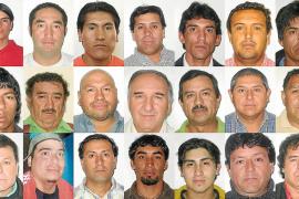 LOS 33 MINEROS QUE PERMANECEN ATRAPADOS EN CHILE