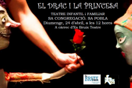 'El drac i la princesa' se representa en sa Pobla con motivo de Sant Jordi 2016