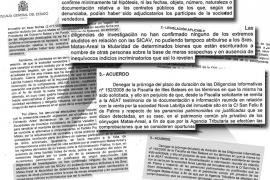 El fiscal general del Estado redactó un escrito «de defensa» de Matas