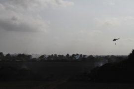 Estabilizado el incendio de Son Real  tras quemar 40 hectáreas forestales y 10 agrícolas