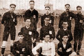 Primera formación del Alfonso XIII.