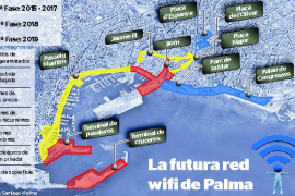El Ajuntament inicia la instalación de los nuevos puntos wifi del centro de Palma