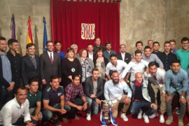 Armengol felicita a los componentes del Atlètic Balears por la victoria en la Copa Federación