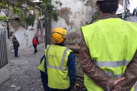 Finaliza el desalojo de las calles Alt y Retir de sa Penya