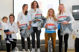 Entrega de trofeos del Europe 470 de vela