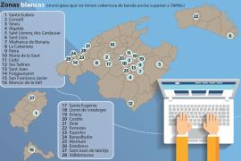 Internet llega con dificultades a 28 municipios de Balears