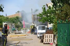 Un incendio causa daños en una vivienda junto al colegio público de Andratx