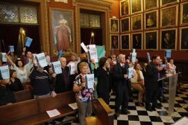 Cort rechaza la iniciativa del PP para paralizar la demolición del monolito de sa Feixina