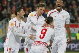 El Sevilla arranca un valioso empate en Ucrania