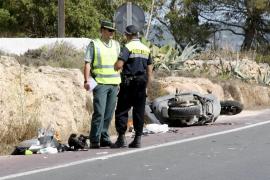 Un motorista fallece en un accidente en Formentera