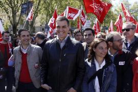 Pedro Sánchez asegura que el PSOE lucha por un gobierno de cambio que recupere los derechos laborales