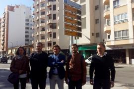 Colocan 18 paneles informativos sobre el estado de los aparcamientos en Palma