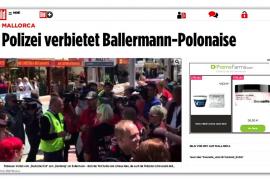 'Bild' da cuenta de la mano dura policial en la Platja de Palma: «No más diversión»
