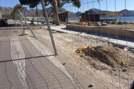 Tots per Pollença denuncia el retraso de las obras del Port, cuyo plazo de ejecución finaliza este jueves