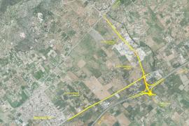 Los accesos a Lloseta desde la autopista de Inca incluirán un carril para ciclistas y peatones
