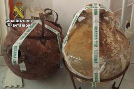Ánforas recuperadas en Menorca