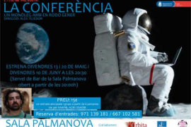 'La conferència', un monólogo con Rodo Gener en la Sala Palmanova