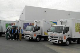 Auto Vidal entregó cuatro camiones FUSO a Mr. Chippy