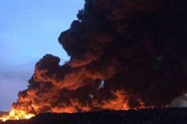 Registrado un importante incendio en el cementerio de neumáticos de Seseña