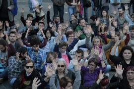 Concentración en Palma con motivo del quinto aniversario del 15M