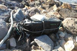 Hallan un fardo de 20 kilos de cocaína en Menorca durante la búsqueda del «Sirius»
