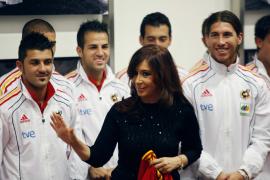 La presidenta argentina felicita a España por su Mundial