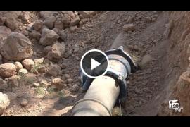 La rotura de una tubería deja sin suministro de agua a 8.000 vecinos de Sant Jordi