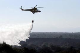 Un incendio forestal quema 30 hectáreas entre Petra y Son Serra