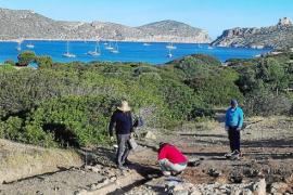 Un suelo de marés hallado en Cabrera refuerza la entidad del cenobio bizantino
