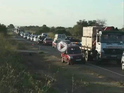 Cinco personas heridas leves en un accidente múltiple en la carretera de Campos a Llucmajor