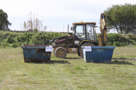 La promotora del golf de Son Bosc continúa  las obras en el interior de la zona ZEPA