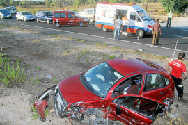 Un muerto y cuatro heridos en un nuevo accidente en la carretera Llucmajor-Campos
