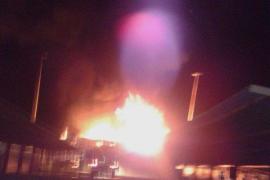 Incendio en un almacén de productos químicos en el polígono de Manacor