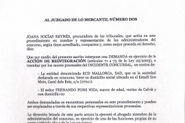 Los administradores concursales exigen a Nando Pons que restituya 1.052.631,59 euros