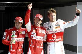 "Alonso logra su primera ""pole"" como piloto de Ferrari"