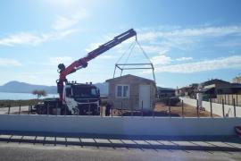 La instalación del primer chiringuito en Son Serra desata críticas de los ecologistas