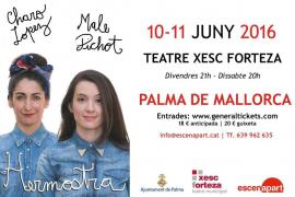 'Hermostra', el espectáculo de humor de Charo Lopez y Malena Pichot recala en el Xesc Forteza