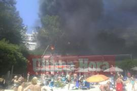 Arde un autobús de la EMT en Illetes